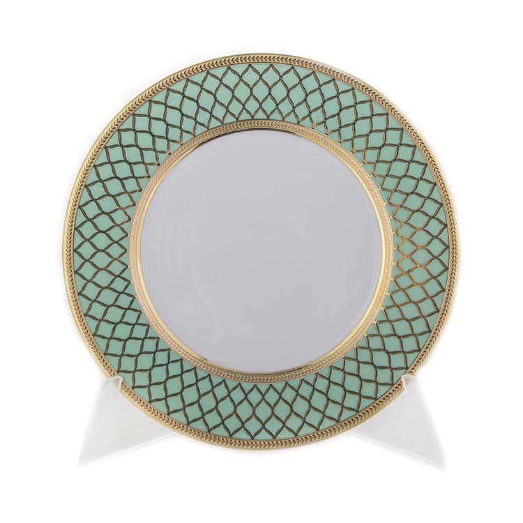 VALENCIA SELADON GOLD Набор тарелок 17 см Falkenporzellan