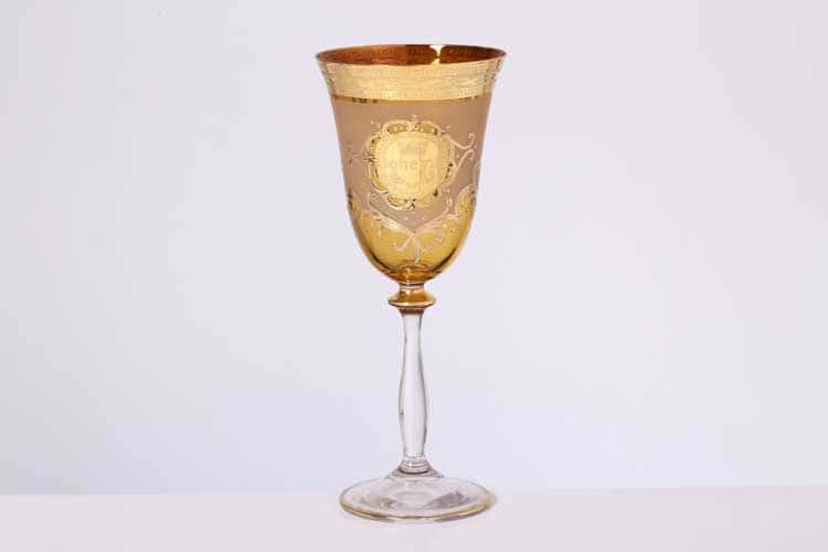Анжела Версаче Богемия Б-Г медовый Набор фужеров для вина (6 шт)