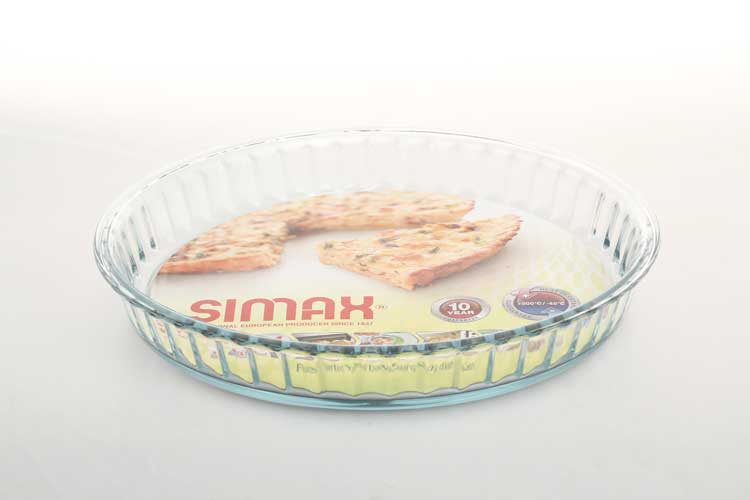 Симакс Блюдо для запекания 28 см из жаропрочного стекла Чехия