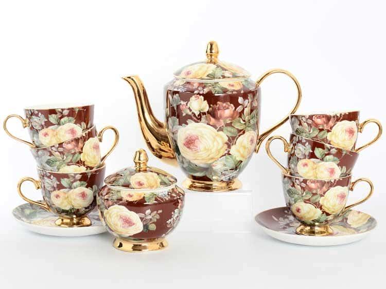 Чайный сервиз Royal Classics бордо 14 предметов