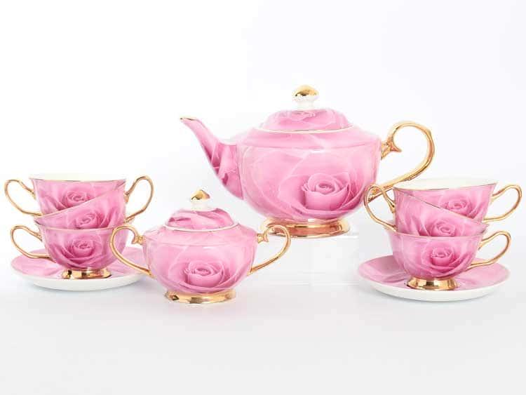 Чайный сервиз Royal Classics розовый 14 предметов
