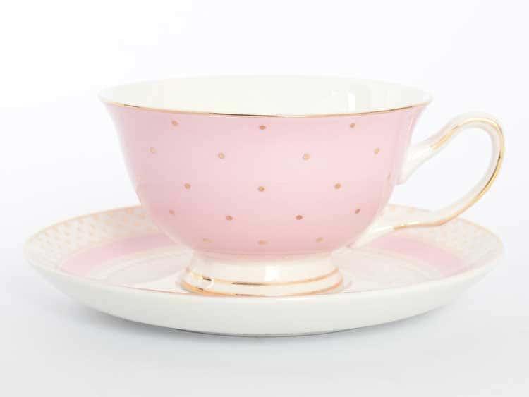 Набор чайных пар Royal Classics 220 мл розовый 12 предметов