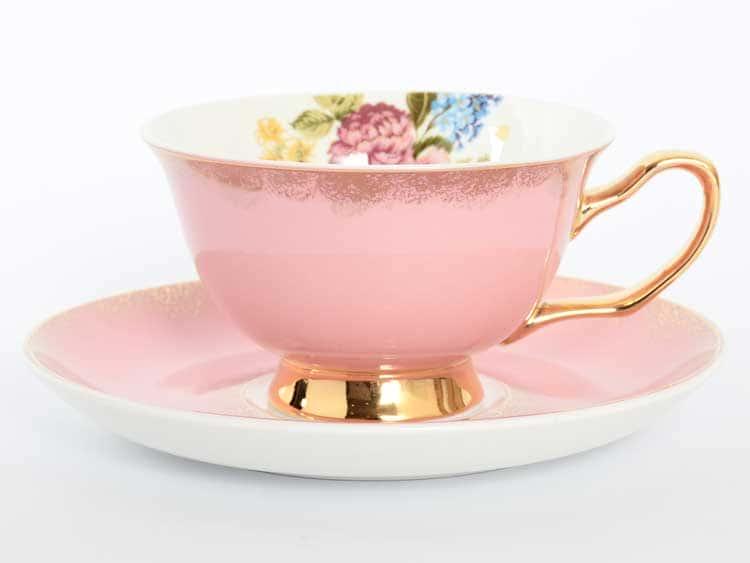 Набор чайных пар Royal Classics розовый 220 мл 12 предметов