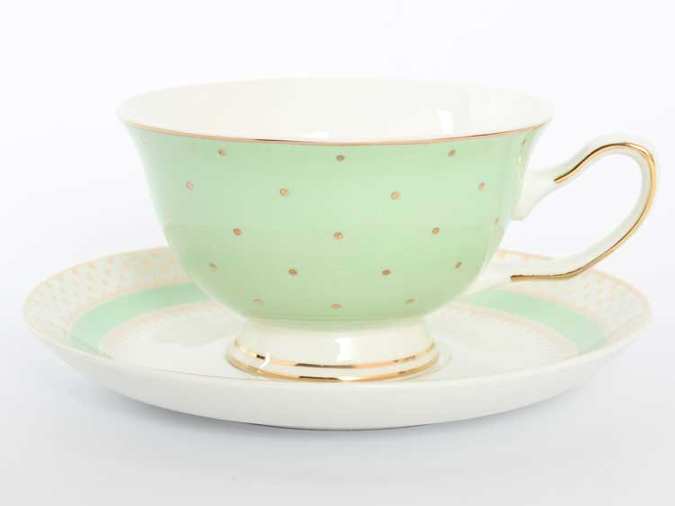 Набор чайных пар Royal Classics 220 мл зеленый 12 предметов