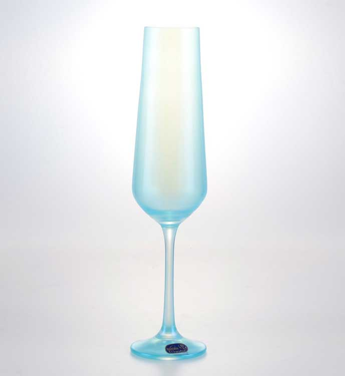 Sandra Набор фужеров для шампанского Crystalex 200 мл 6 шт  голубые