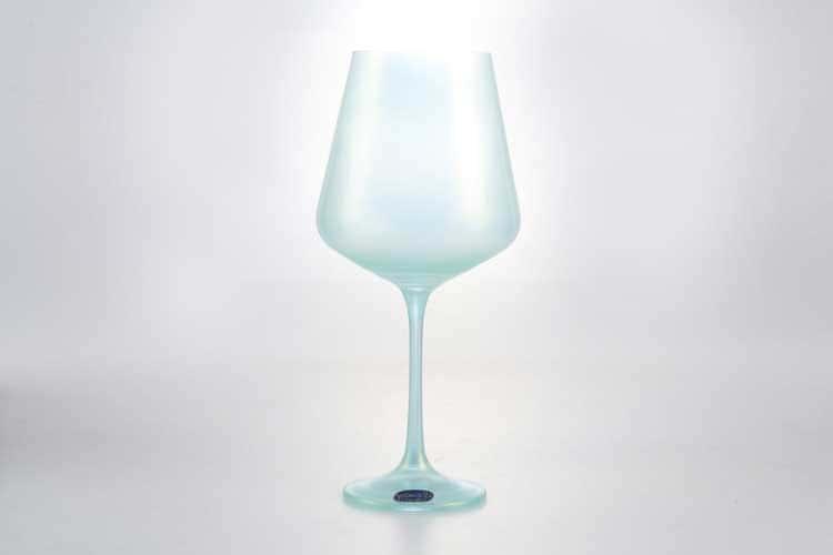 Sandra Набор бокалов для вина 570 мл Кристалекс (6 шт) голубые