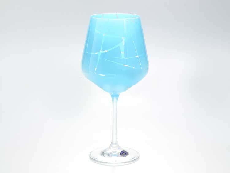 Sandra Набор бокалов для вина 570 мл Кристалекс (6 шт) синие