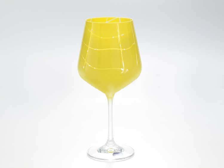 Sandra Набор бокалов для вина 570 мл Кристалекс (6 шт) желтые