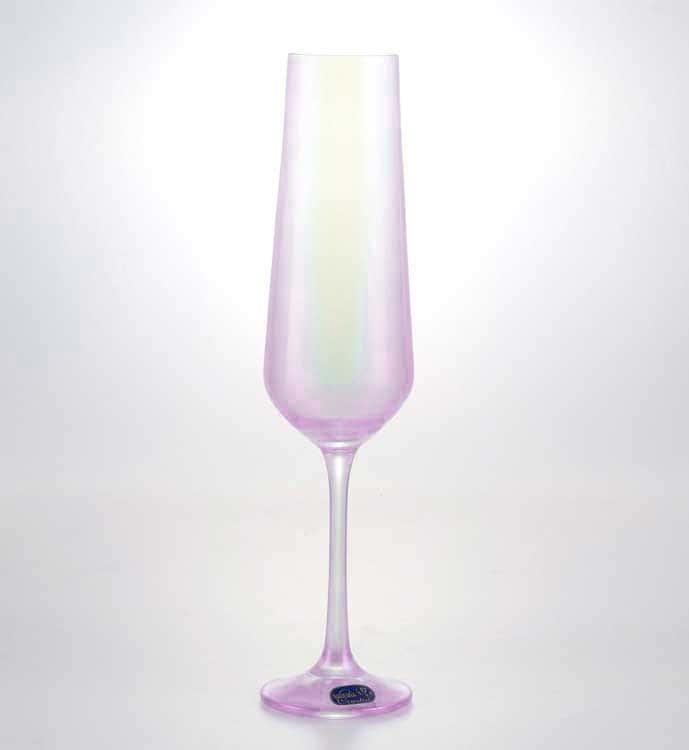 Sandra Набор фужеров для шампанского Crystalex 200 мл 6 шт розовые