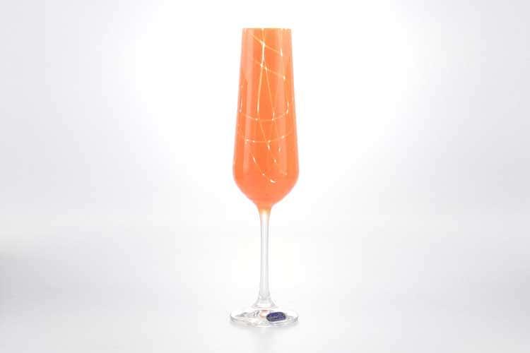 Sandra Набор фужеров для шампанского Crystalex 200 мл 6 шт оранж