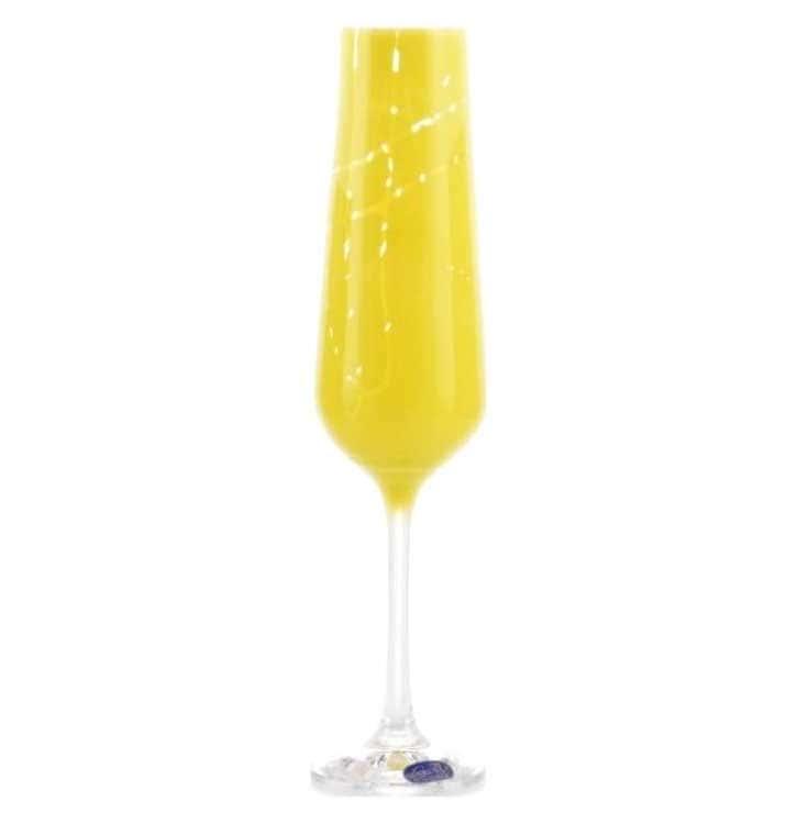 Sandra Набор фужеров для шампанского Crystalex 200 мл 6 шт желтые