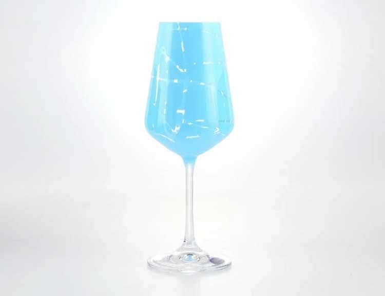 Sandra Набор бокалов для вина 350 мл Кристалекс (6 шт) синие