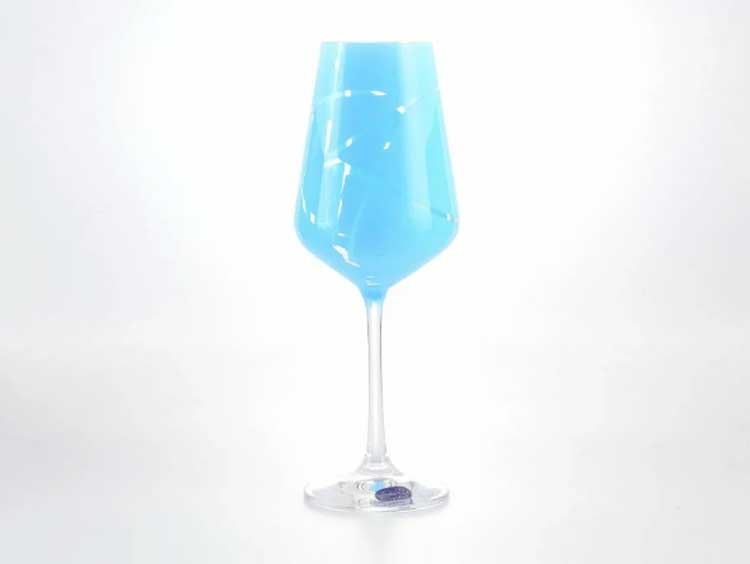Sandra Набор бокалов для вина 250 мл Кристалекс (6 шт) синие