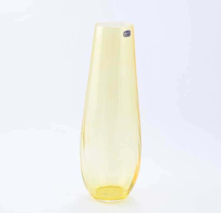 Waterfall Кристалекс Ваза для цветов Bohemia Crystal 34 см желтая