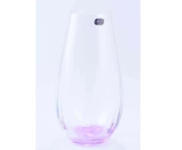 Waterfall Кристалекс Ваза для цветов Bohemia Crystal 30 см фиолетовая
