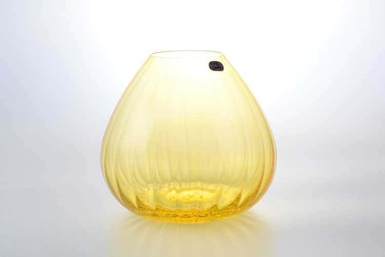 Waterfall Кристалекс Ваза для цветов Bohemia Crystal 18 см желтая