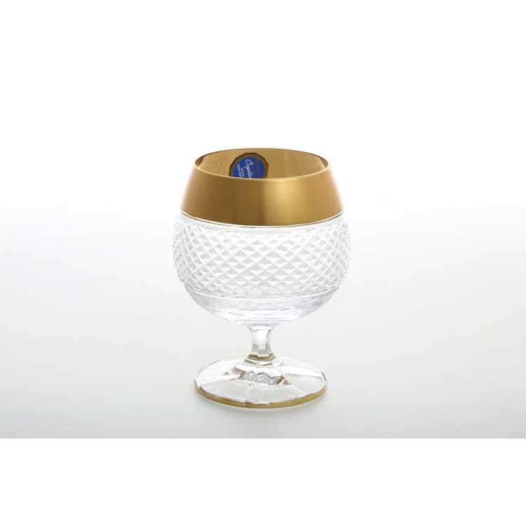 Набор бокалов для бренди Матовая полоса хрусталь 250 мл (6 шт)