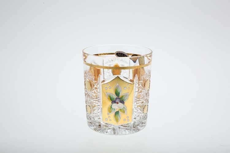 Набор стаканов для виски Max Crystal хрусталь с золотом 320 мл (6 шт)