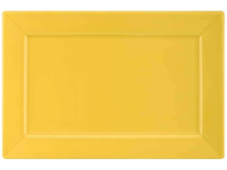 Тарелка квадратная Oxford желтый 30х20 см