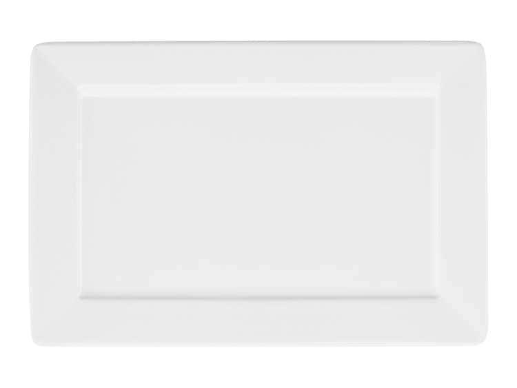 Тарелка квадратная Oxford белый 30х20 см