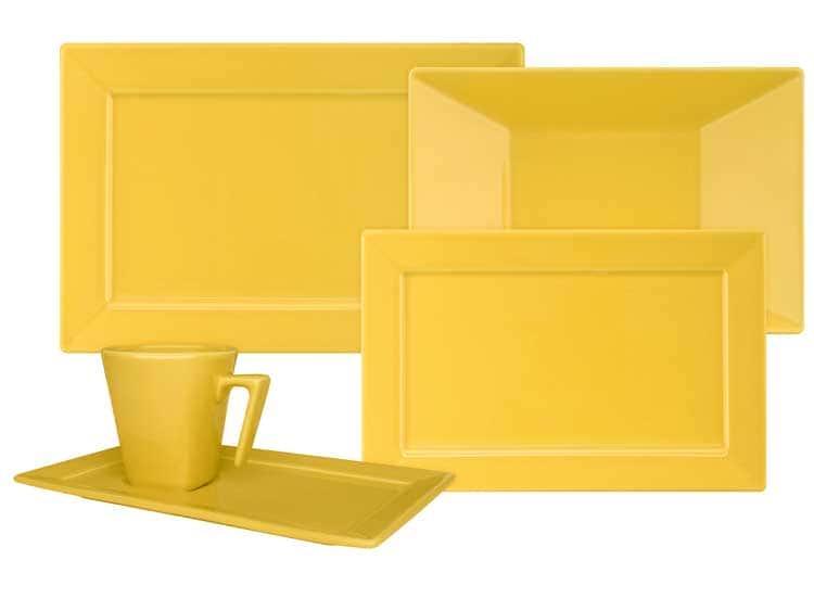 Столовый сервиз Oxford квадрат желтый 30 предметов