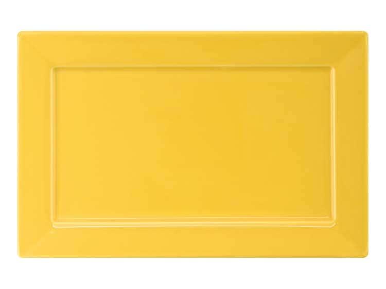 Набор тарелок квадратных Oxford желтый 25 см (6 шт)
