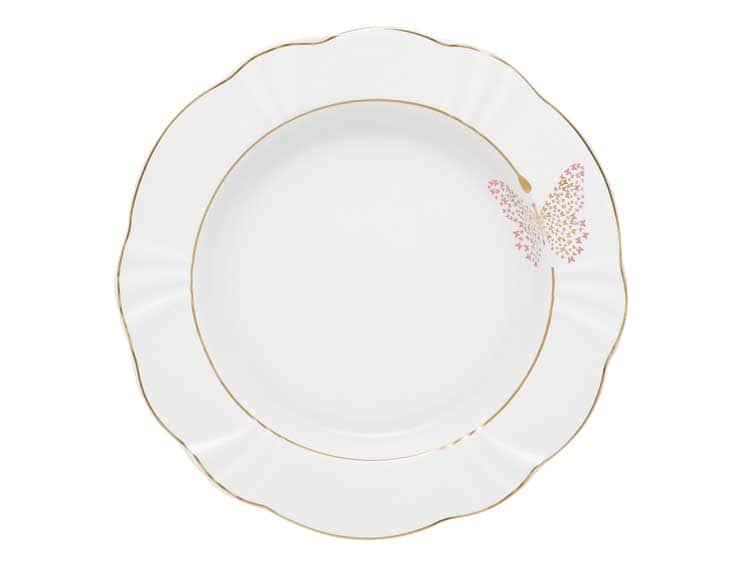 Набор тарелок глубоких Oxford Бабочка 24 см (6 шт)
