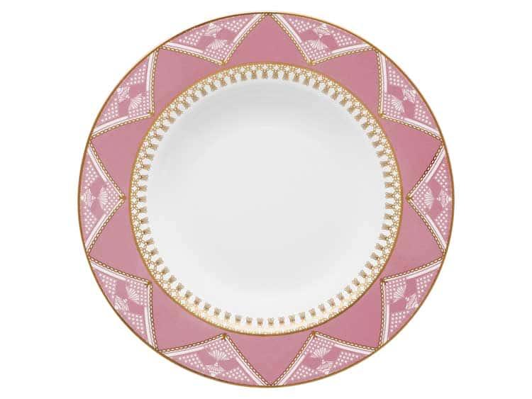 Набор тарелок глубоких Oxford розовый узор 23 см (6 шт)