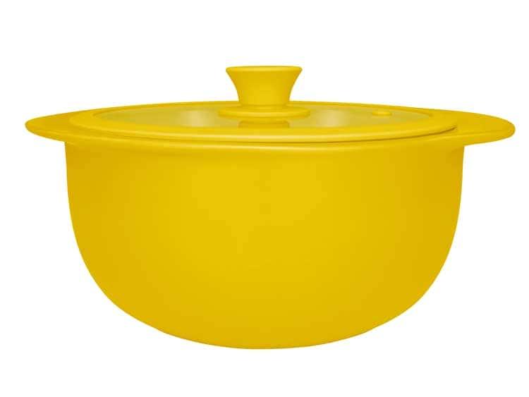 Кастрюля керамическая с крышкой Oxford желтый 25 cm / 2300ml