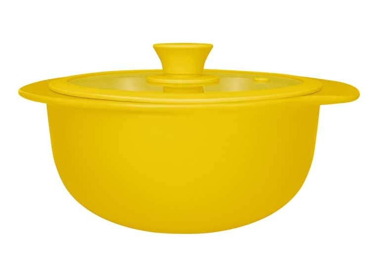 Кастрюля керамическая с крышкой Oxford желтый 23,50cm 1300ml