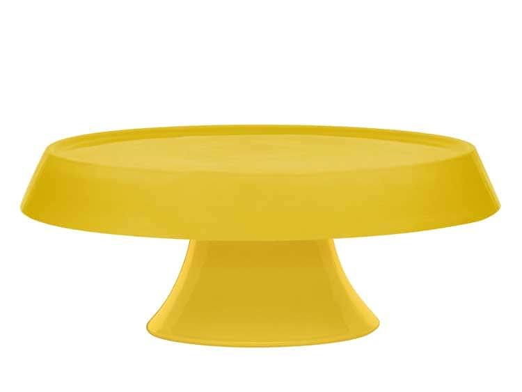 Блюдо для торта Oxford желтый 27 см на ножке
