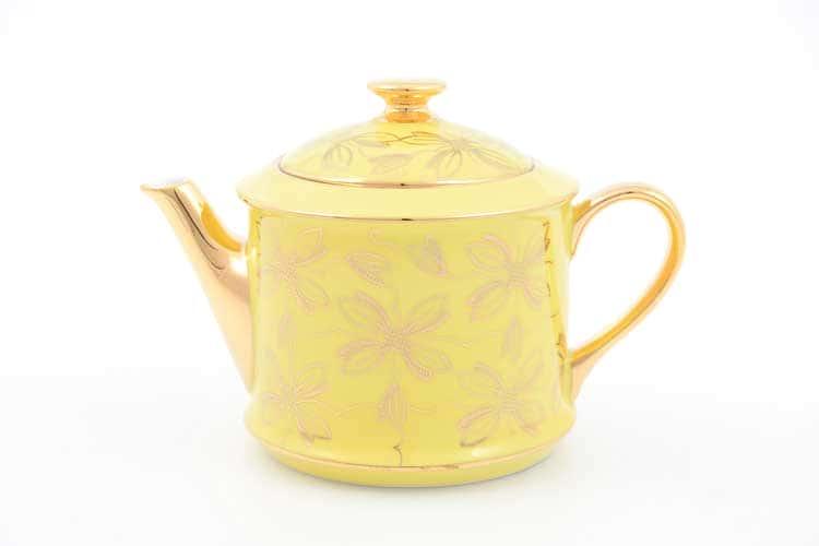 Чайник Виндзор золотые цветы Leander, желтый 400 мл