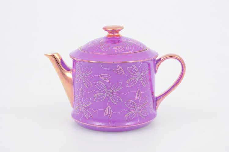 Чайник Виндзор золотые цветы Leander, розовая 400 мл