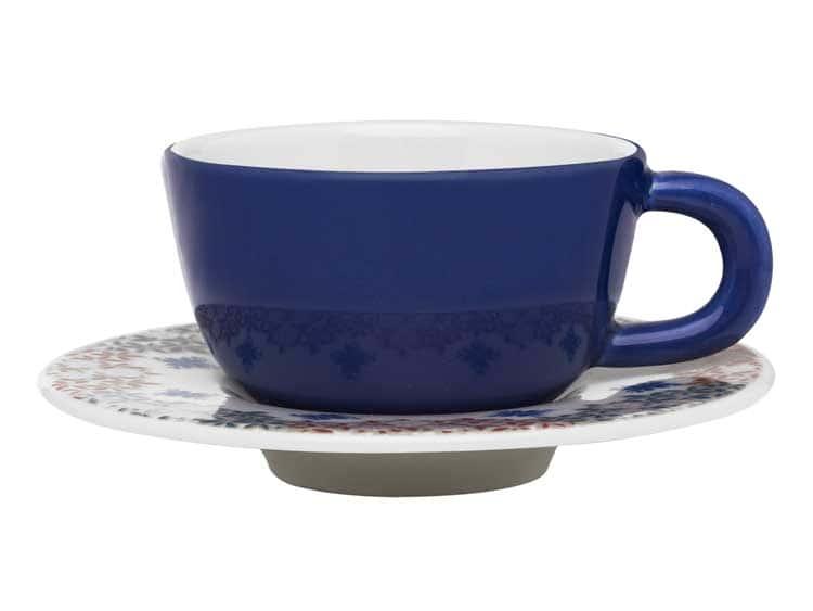 Чайный набор Oxford синий 12 предметов (6 чашек + 6 блюдец) 200 мл