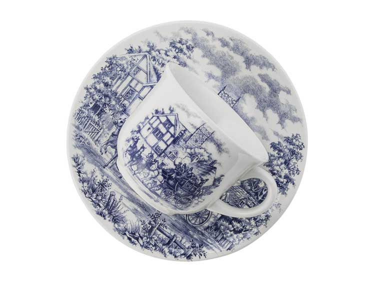 Чайный набор Oxford с рисунком 12 предметов (6 чашек + 6 блюдец) 200 мл