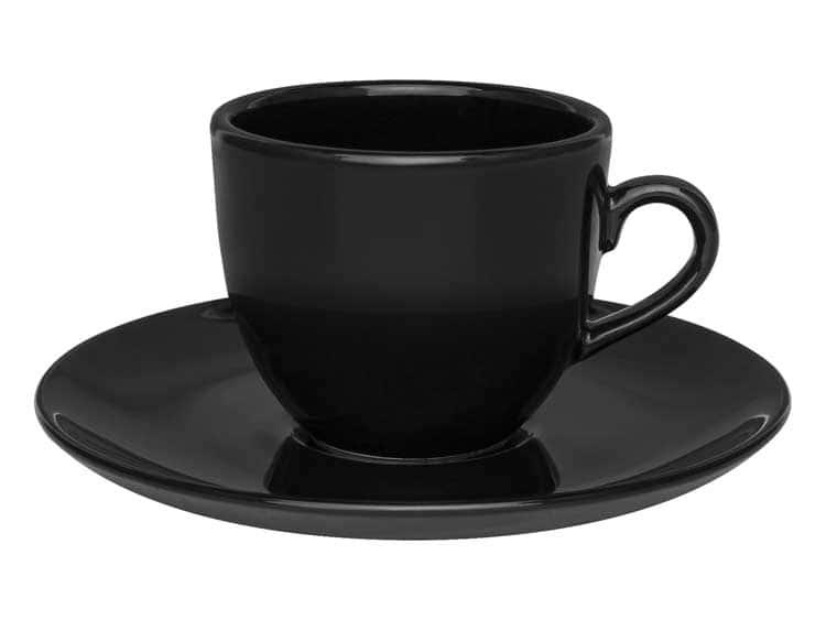 Чайный набор Oxford черный 12 предметов (6 чашек + 6 блюдец) 200 мл