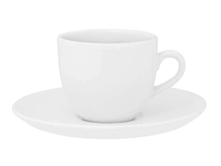 Чайный набор Oxford белый 12 предметов (6 чашек + 6 блюдец) 200 мл