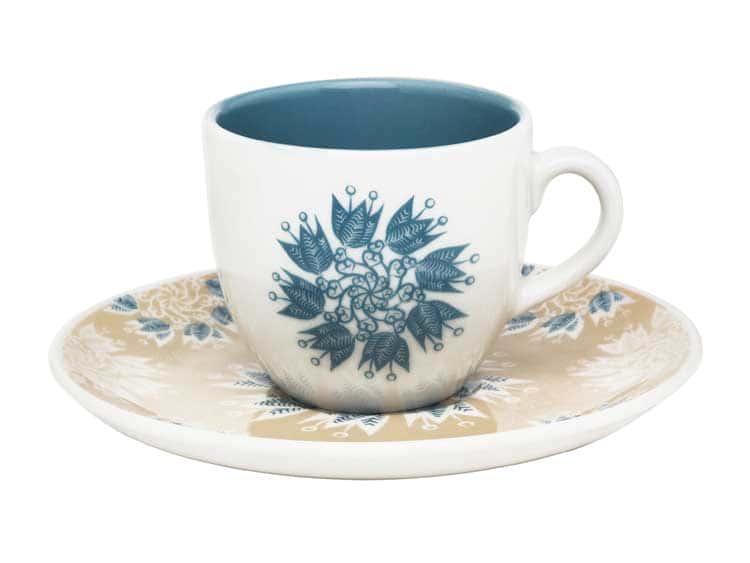 Чайный набор Oxford голубые цветы 12 предметов (6 чашек + 6 блюдец) 200 мл