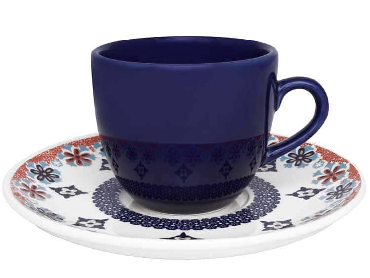 Чайный набор Oxford ультрамарин 12 предметов (6 чашек + 6 блюдец) 200 мл
