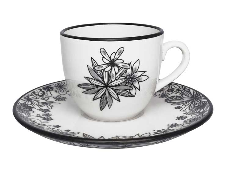 Чайный набор Oxford цветы 12 предметов (6 чашек + 6 блюдец) 200 мл