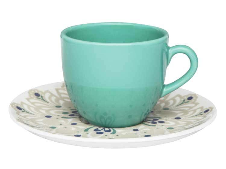 Чайный набор Oxford голубой 12 предметов (6 чашек + 6 блюдец) 200 мл