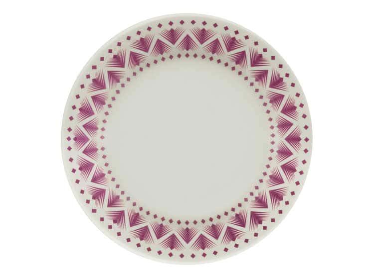 Набор тарелок Oxford сиреневый узор 18 см (6 шт)