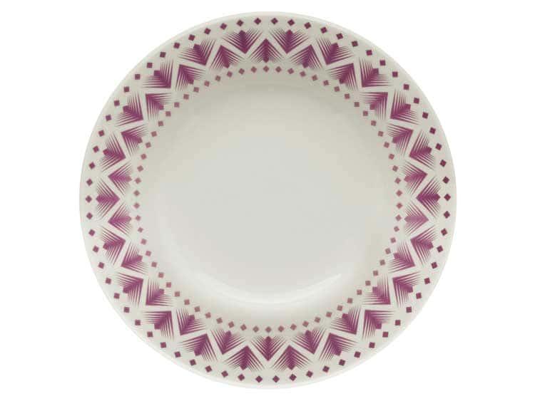 Набор глубоких тарелок Oxford сиреневый узор 21 см (6 шт)