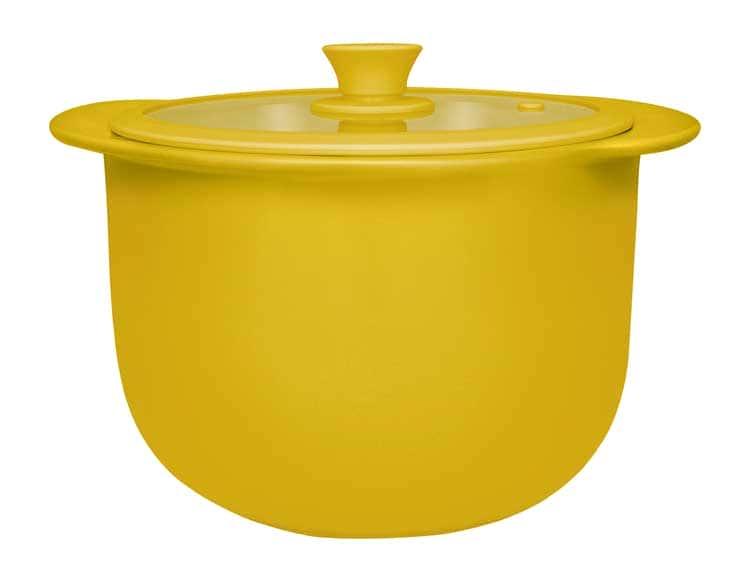 Кастрюля керамическая с крышкой Oxford желтый 28,50cm / 5000ml