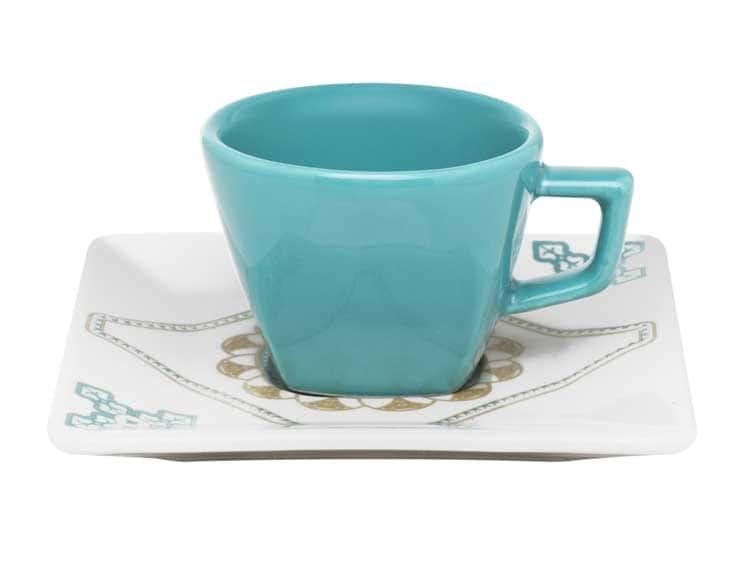 Кофейная пара Oxford голубой(чашка + блюдце) 75 мл