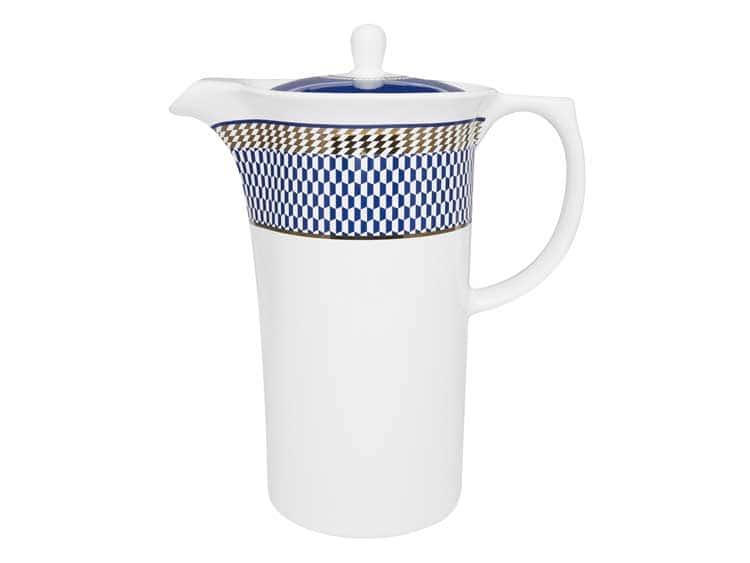 Кофейник Oxford синий узор 1,2 л