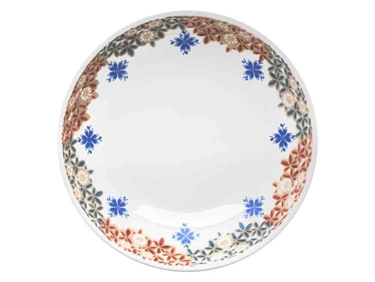 Набор глубоких тарелок Oxford узор цветы 21 см (6 шт)