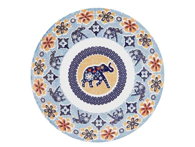 Набор глубоких тарелок Oxford слон 23 см (6 шт)