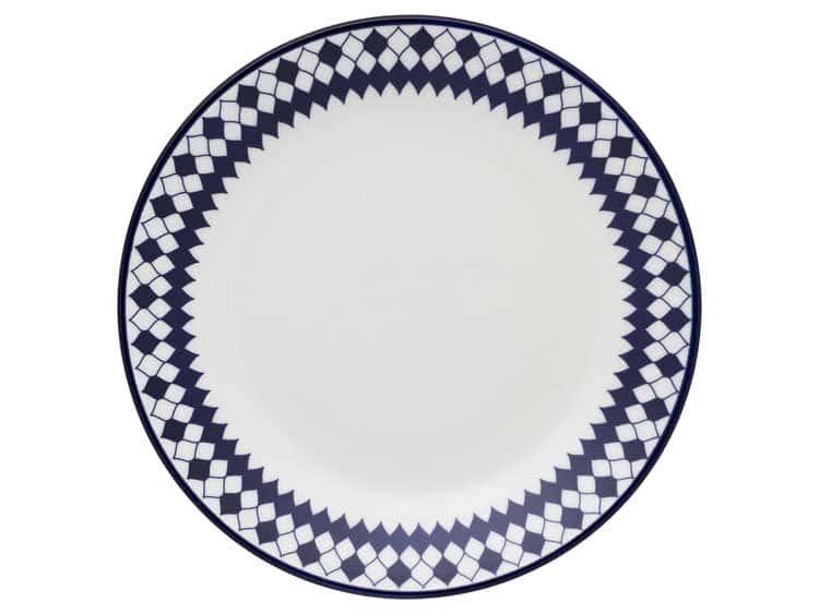 Набор глубоких тарелок Oxford синие ромбы  23 см (6 шт)