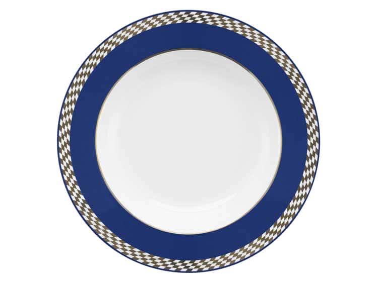 Набор глубоких тарелок Oxford синий узор  23 см (6 шт)